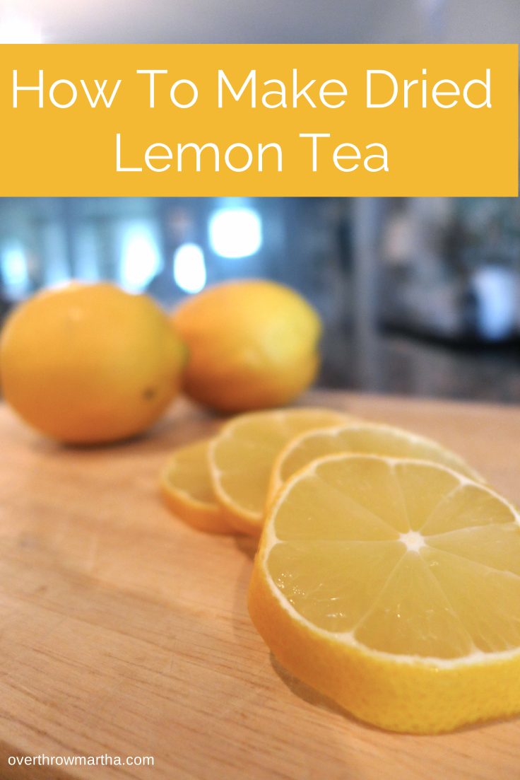 How to make dried lemon tea. It's so easy and helps me sleep! #tea #lemon