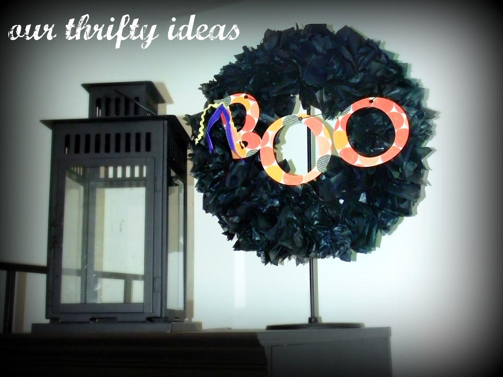 Diy Halloween Wreath Our Thrifty Ideas