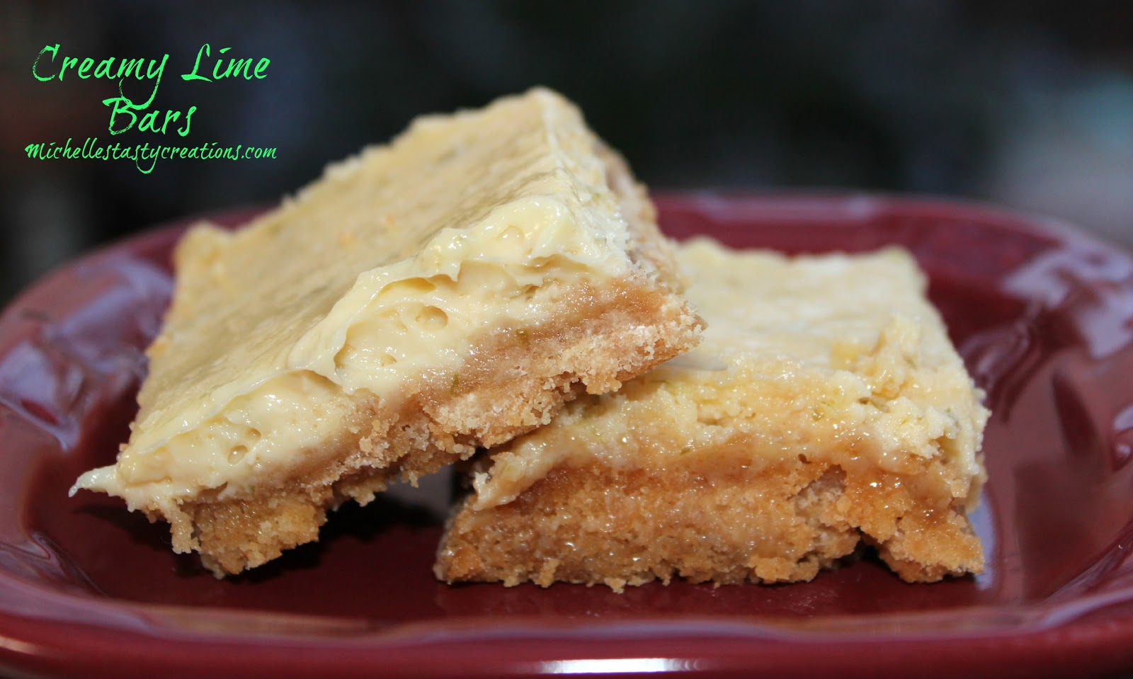 Michelle's Tasty Creations: Creamy Lime Bars
