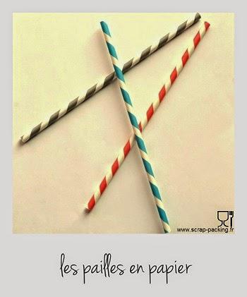 Pailles papier retro couleur au choix