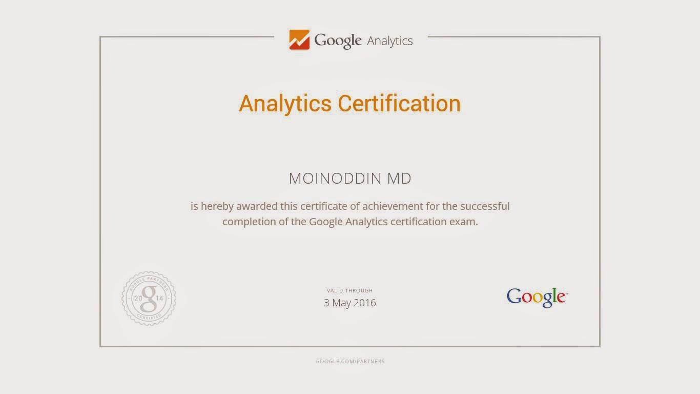 Digital Media Marketing Strategies Google Analytics Certification