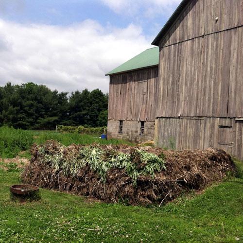 One of many large compost piles at Joy Field Farm. #3farmsummer FoyUpdate.blogspot.com