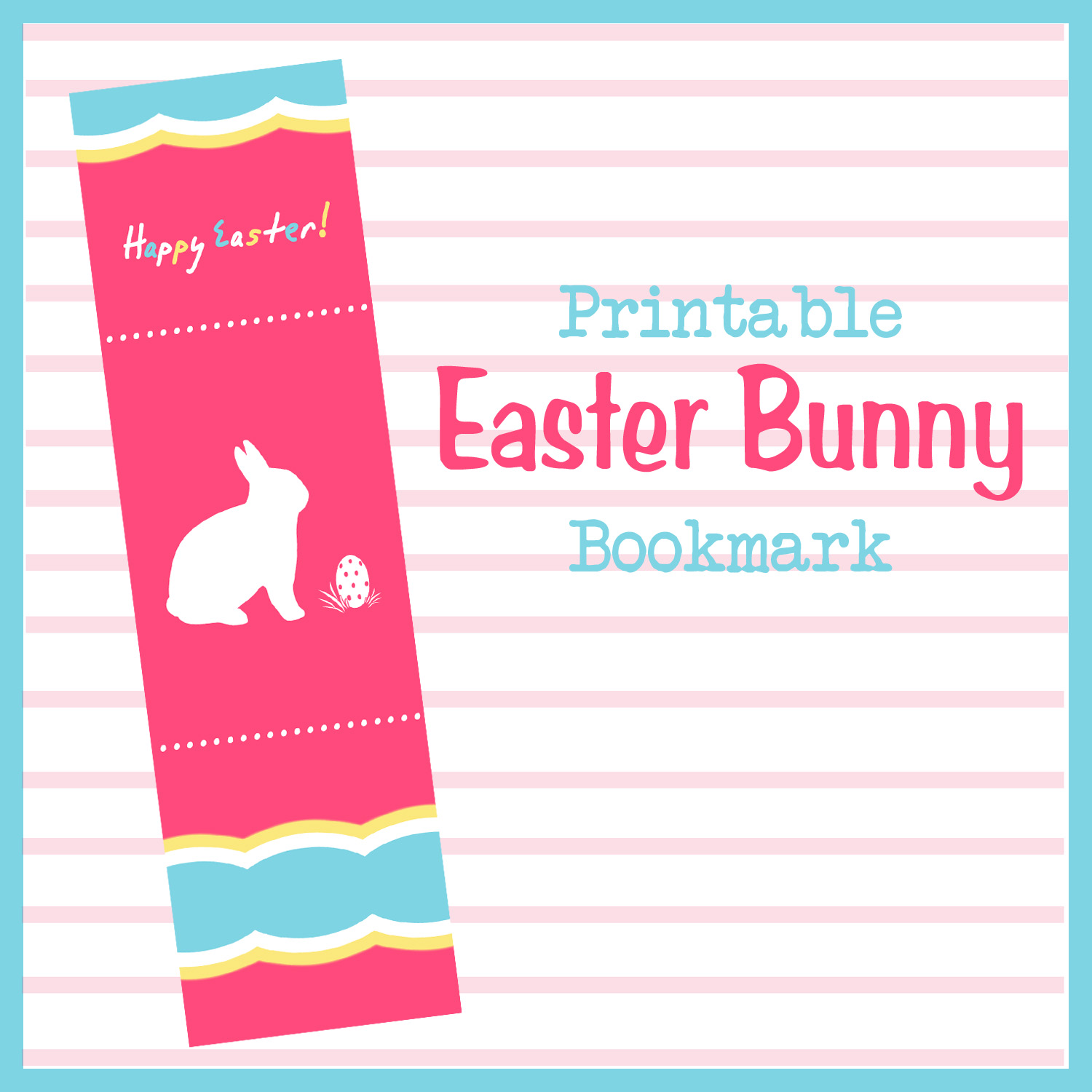 diddles and dumplings printable easter bunny bookmark
