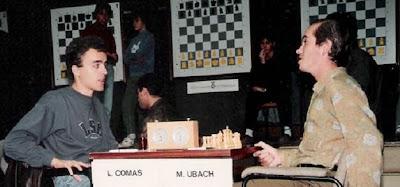Partida de ajedrez Lluís  Comas - Marcel Ubach