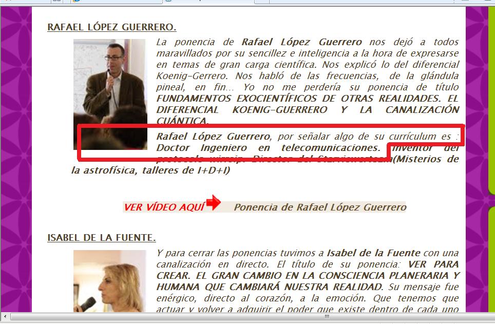 Conciencia & Evolución: CAPÍTULO 3º: ¡¡LA VIRGEN SE APARECE A RLG!!