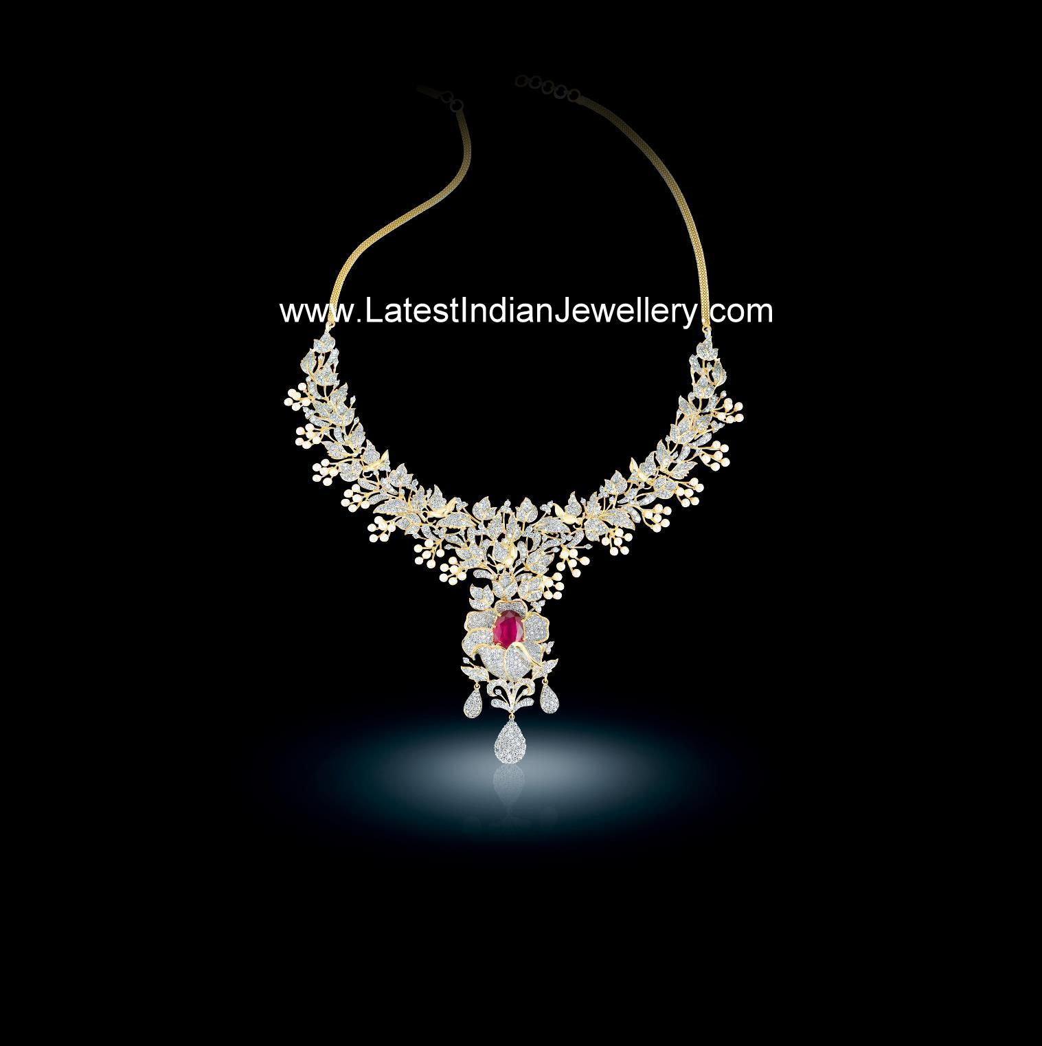 Diamond Necklaces From Bhima Jewellers