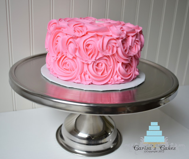 Rose Swirl Cake Design : Carisa s Cakes: Rose Swirl Smash Cake #3
