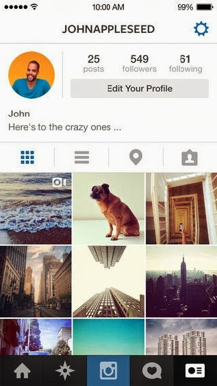 Instagram IOS 7 profile