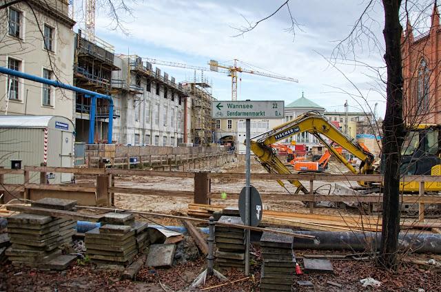 Baustelle Kronprinzengärten, Oberwallstraße / Werderscher Markt, 10117 Berlin, 22.12.2013