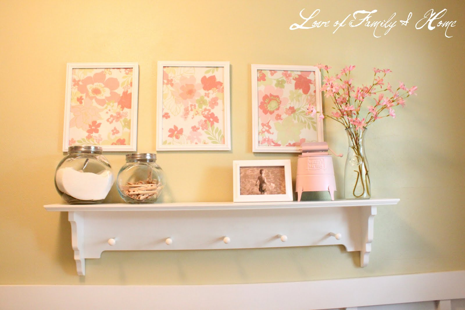 Diy cheap wall art love of family home for Cheap wall art ideas