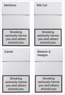 plain cigarettes pack