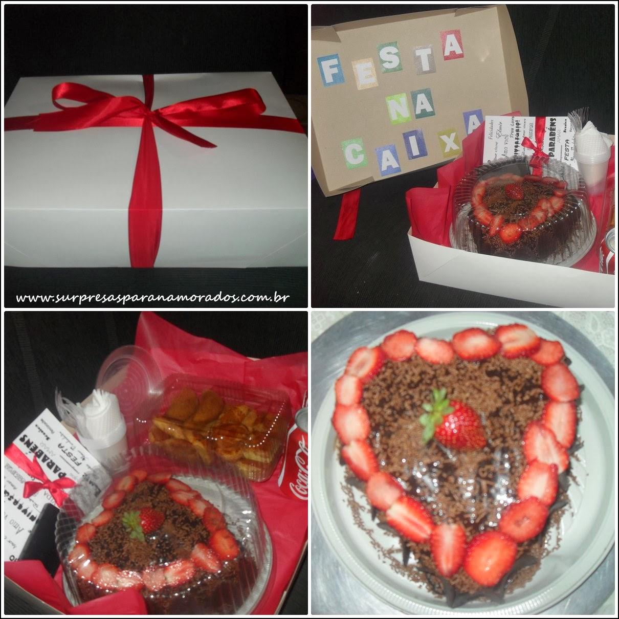 Festa na caixa para o namorado  Surpresas para Namorados