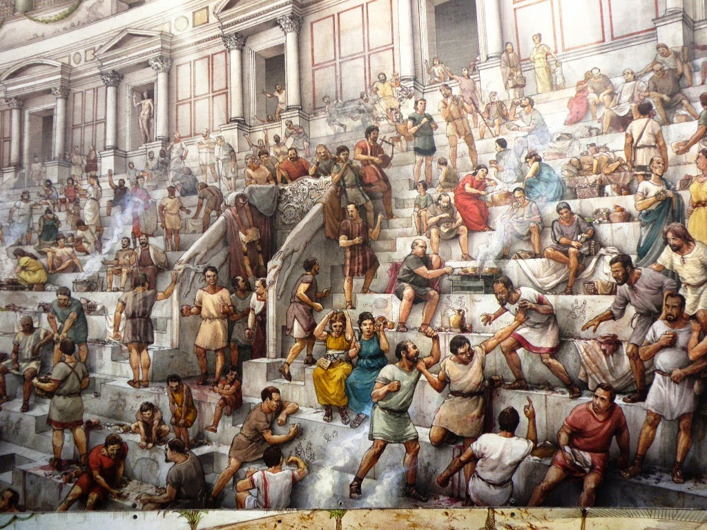 Crowd Scenes Paintings Painting of a Typical Scene of