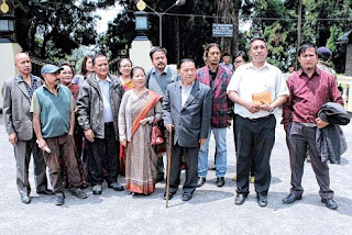 Democratic Front leaders after the meeting at Raj Bhavan Darjeeling