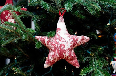 Fabric star ornaments 1