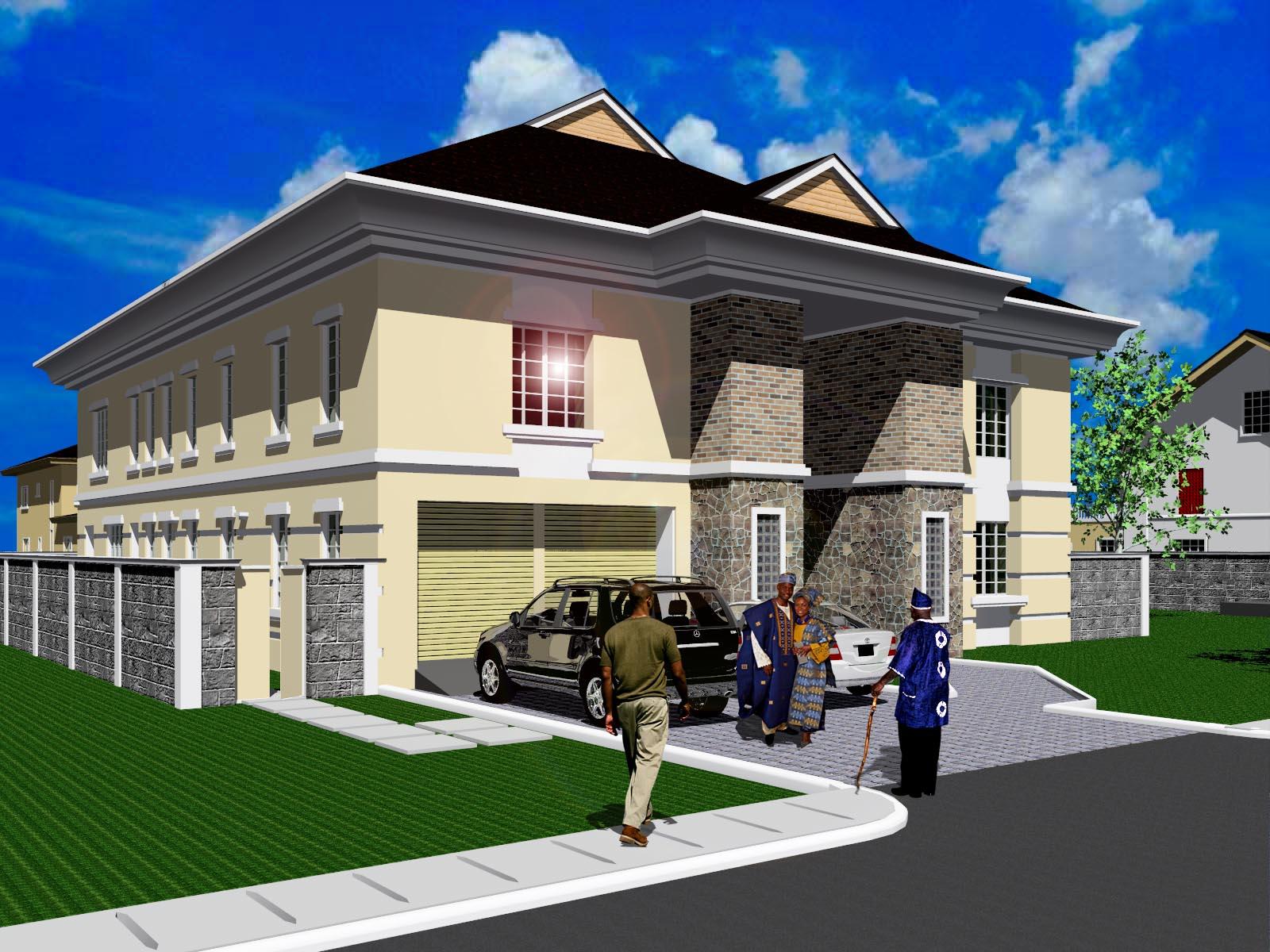 Adiatu oluwafemi models my 3d models both autocad and for Revit architecture modern house design 8