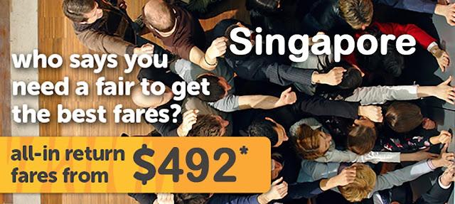 虎航 Tigerair「秋季去旅行」澳門 飛 新加坡 單程HK$352起,9至11月出發!