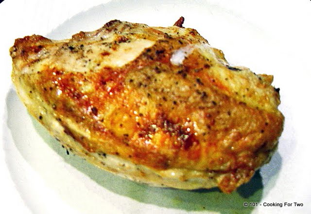 Simple Butter Garlic Roasted Bone-in Skin-on (Split) Chicken Breast ...