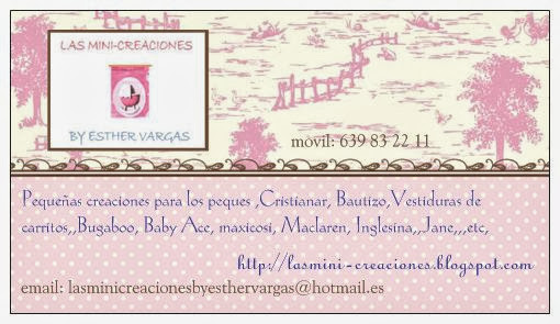 las mini-creaciones BY ESTHER VARGAS