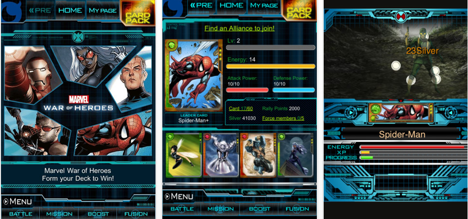 "MARVEL War of Heroes"" By Mobage Takes Card Battles to Your Mobile"