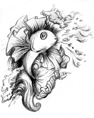 Koi Fish Tattoo Designs Sketch Collection 10