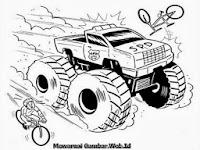 Gambar Mobil Truk Raksasa Untuk Diwarnai