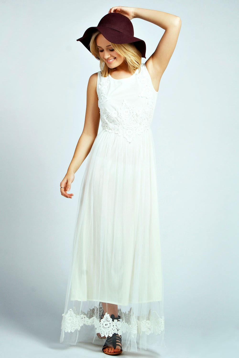 Boohoo Crochet Maxi Dress - Affordable Wedding Dresses: Crochet