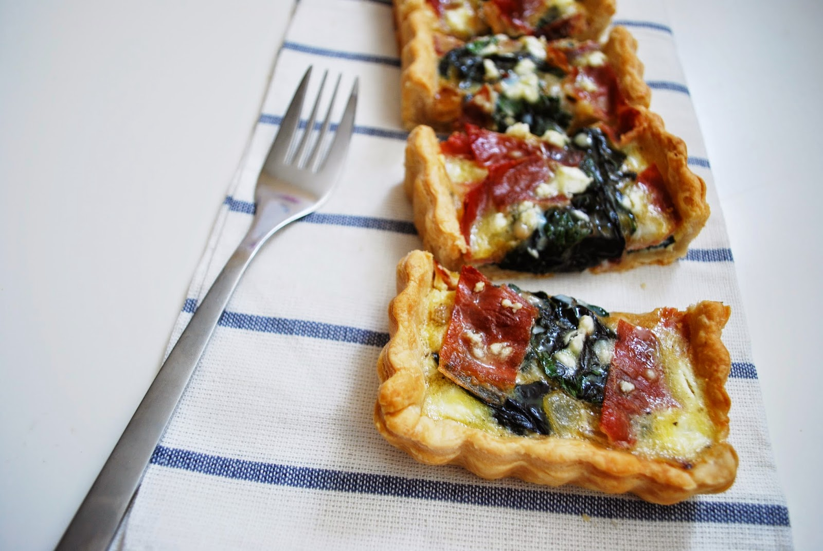 The Mavric: Proscuitto + Goat Cheese + Swiss Chard Quiche