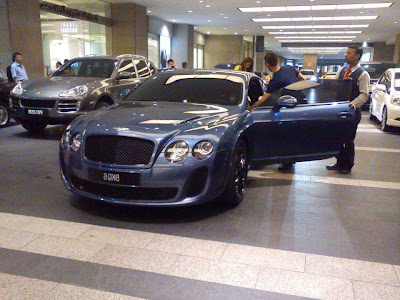 (gambar) kereta lee chong wei  bentley continental gt
