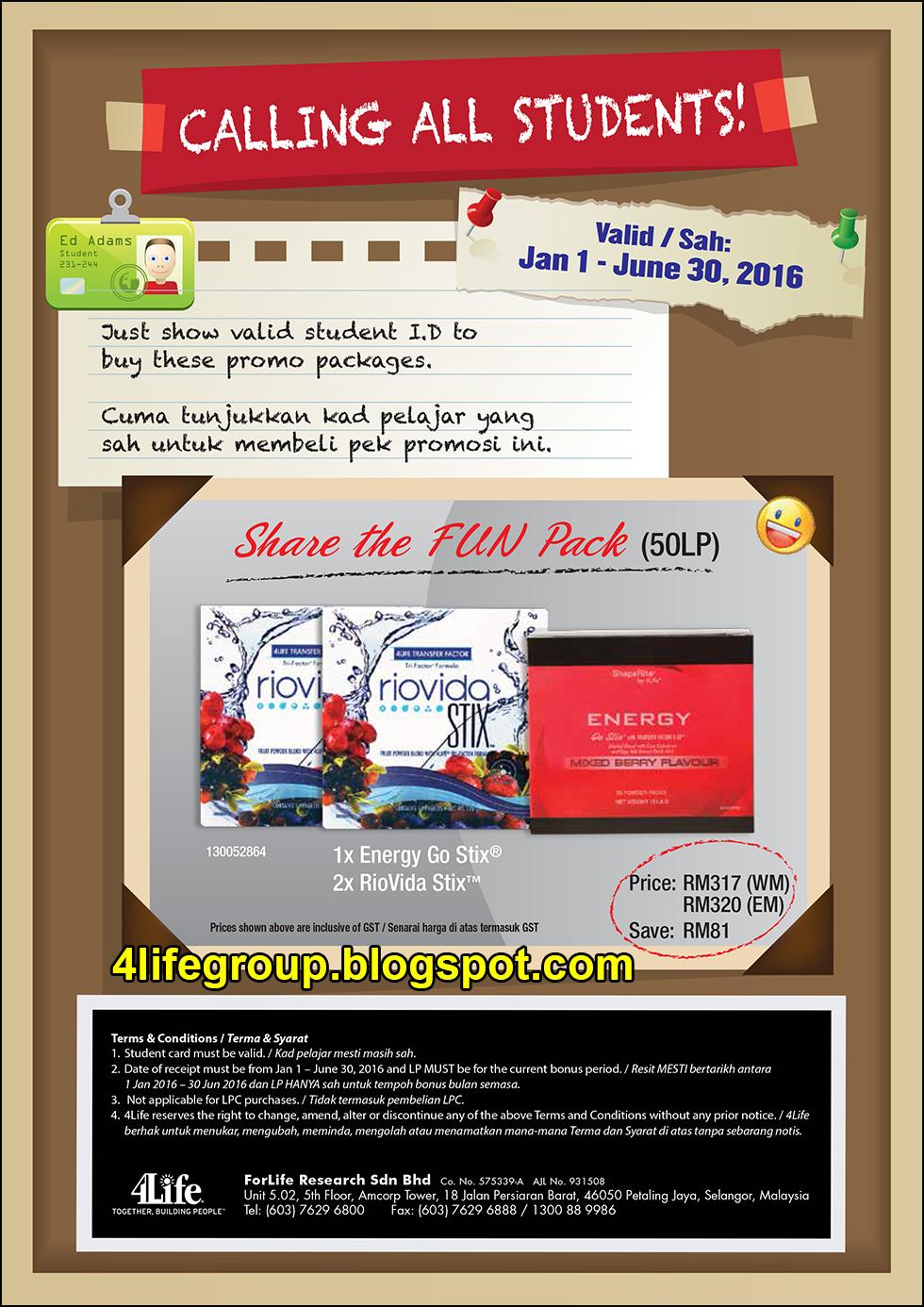 foto Promosi Pakej Pelajar 4Life Malaysia