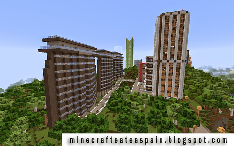 Minecrafteate ciudad minecraft 2 parte for Minecraft casas de lujo