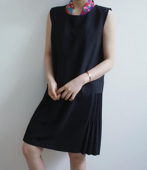 [Holicholic] Jane Paul Pleated Side Dress