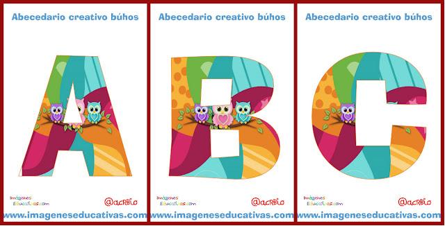 http://www.imageneseducativas.com/wp-content/uploads/2015/07/Abecedario-b%C3%BAhos.pdf