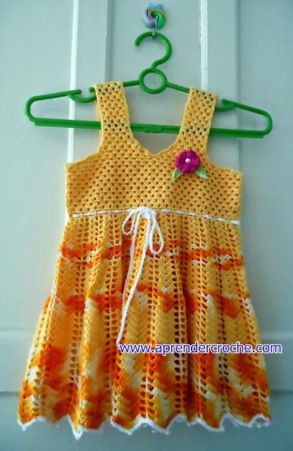 vestidos em croche no site aprender croche com edinir-croche