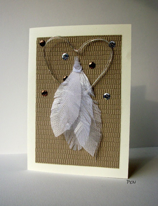 Pumps and Needles: CASE Study Challenge #209 feather card