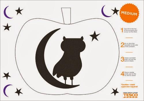 My owl barn free halloween pumpkin stencils for Spooky owl pumpkin stencil