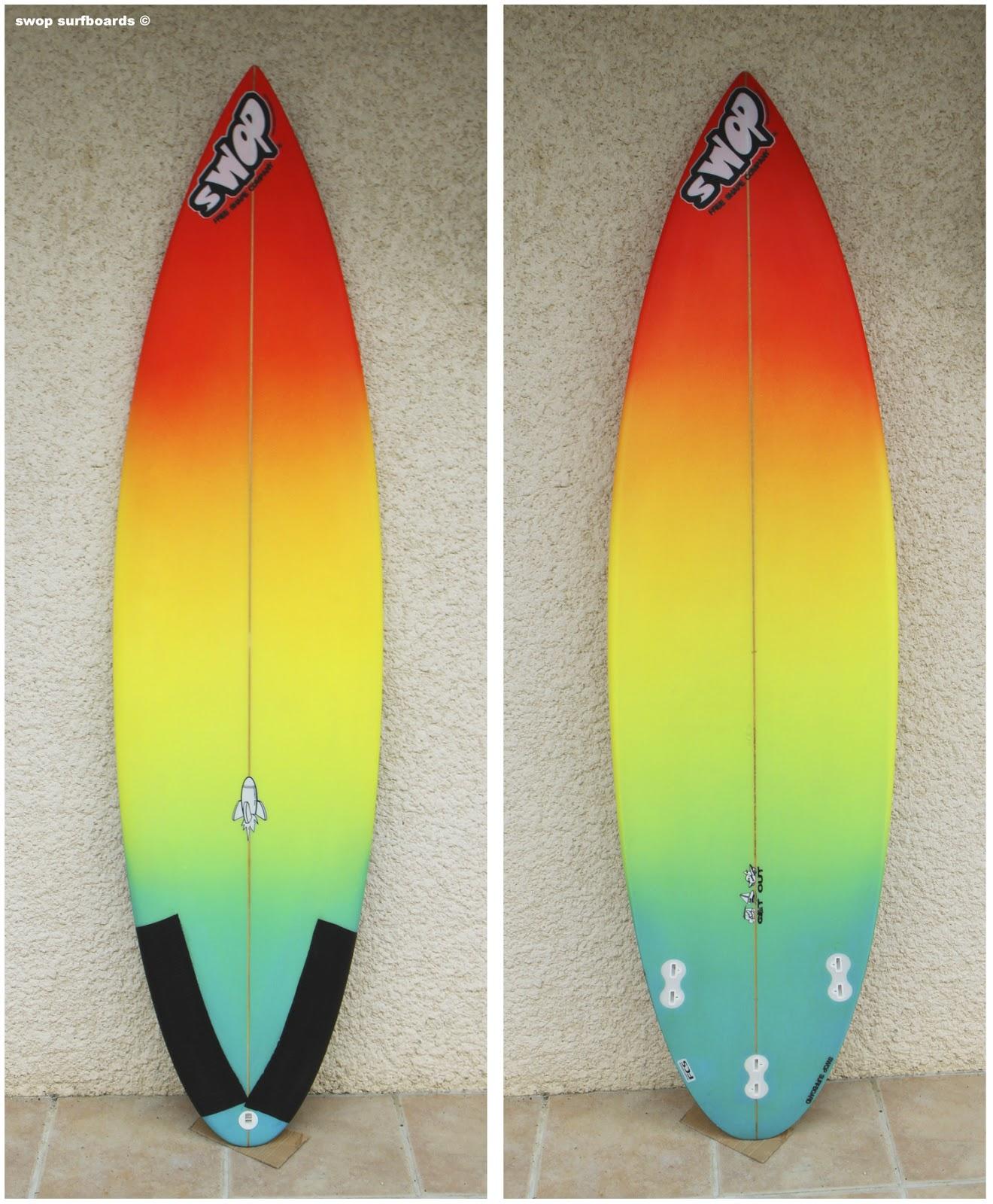 Swop surfboards rainbow shortboard for Deco planche de surf