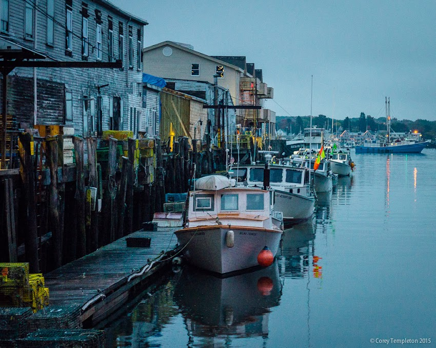 October 2015 Portland, Maine USA From a recent rainy evening along Custom House Wharf. Photo by Corey Templeton.