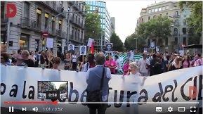 Manifestació contra la reobertura del CIE, juny 2016
