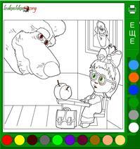 Маша и медведь все серии подряд раскраска