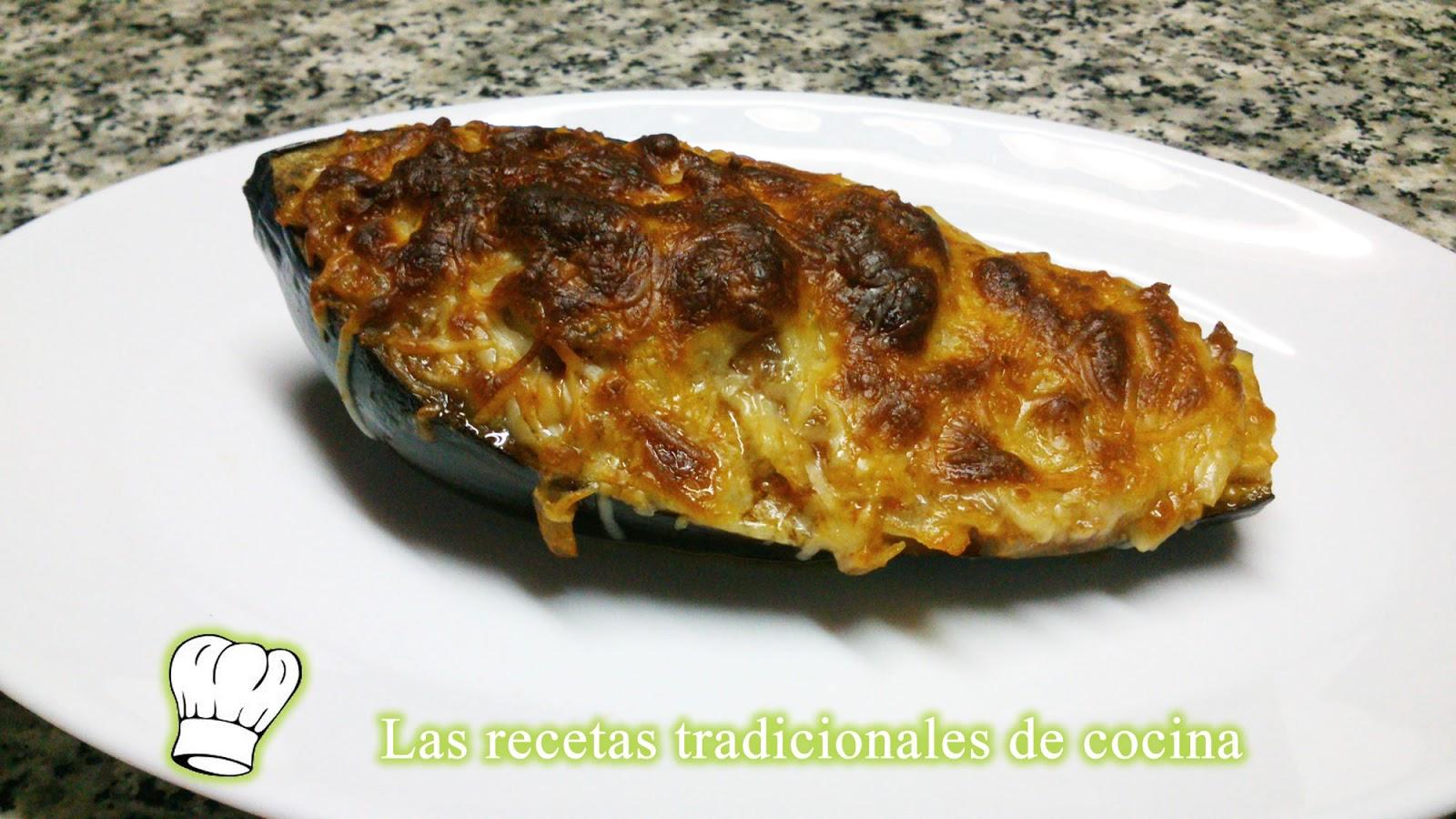 Receta de berenjenas rellenas de carne recetas de cocina - Berenjena rellena de carne ...