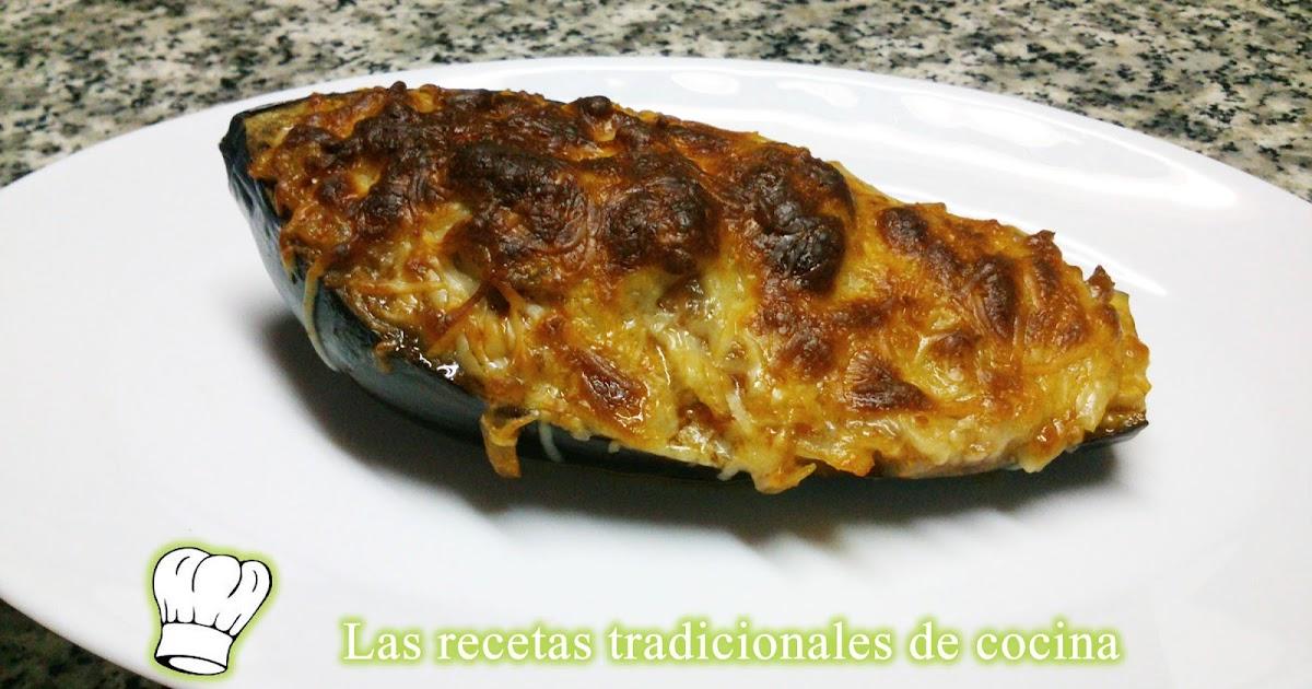 Receta de berenjenas rellenas de carne recetas de cocina for Cocina berenjenas rellenas