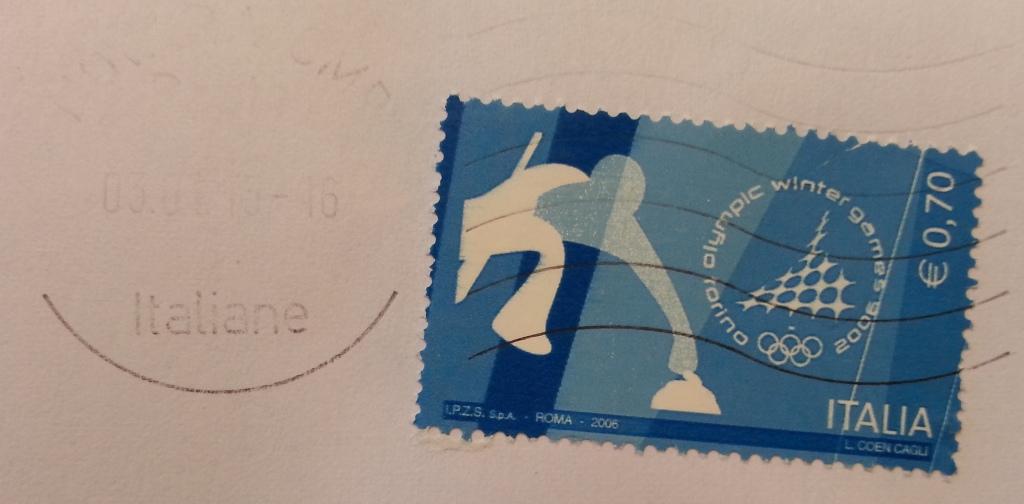 francobollo Olympic Winter Game Torino 2006