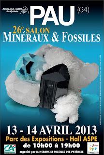 26ème salon Minéraux et Fossiles 2013- Pau