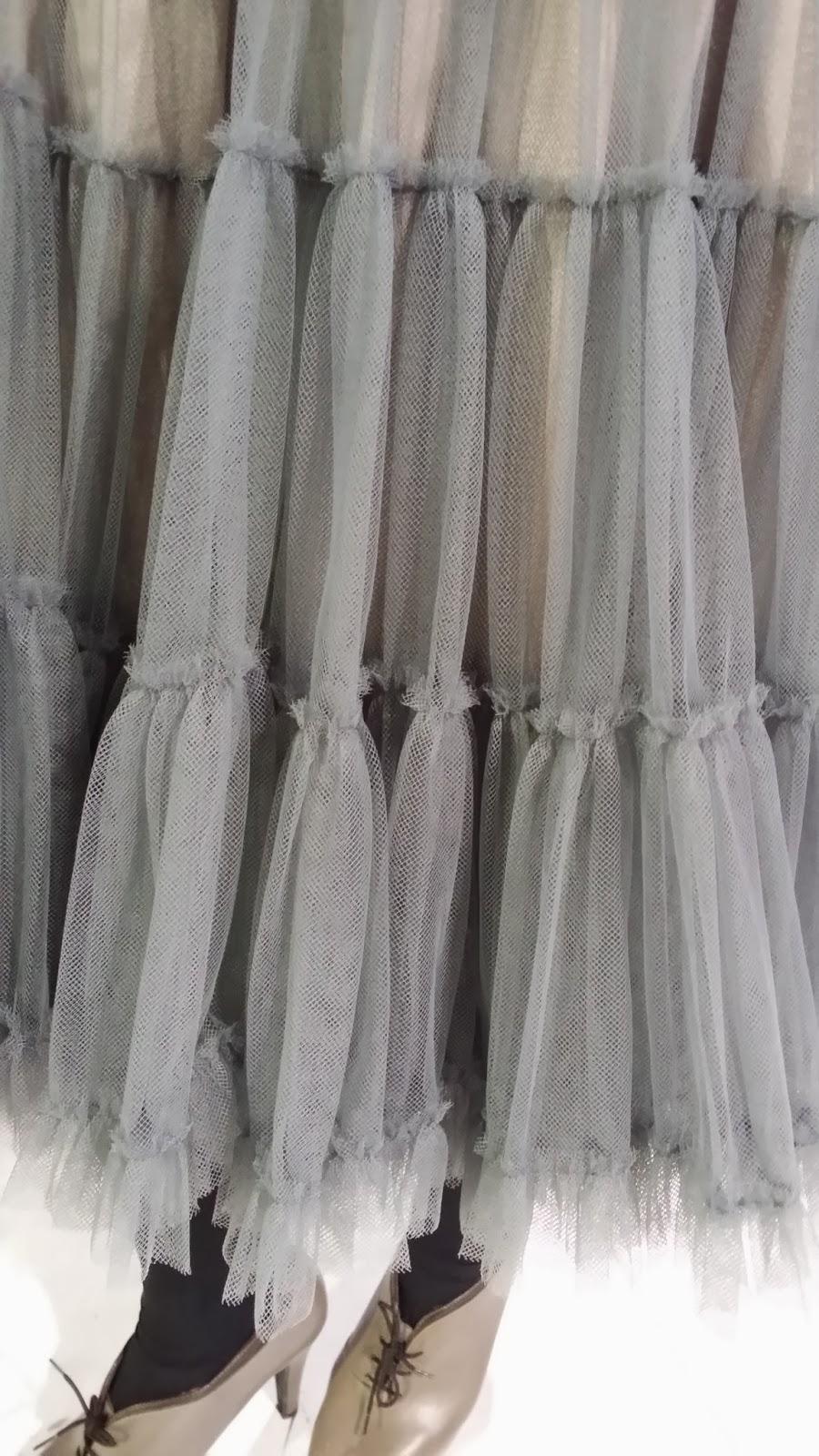 Cibelespacio, moda, desfiles, EGO, blog de moda, falda de tul gris