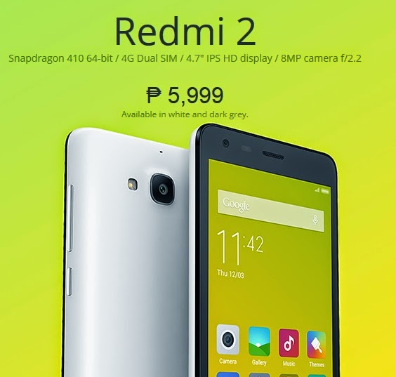 Xiaomi Redmi 2 Coming Soon in the Philippines for Php5,999