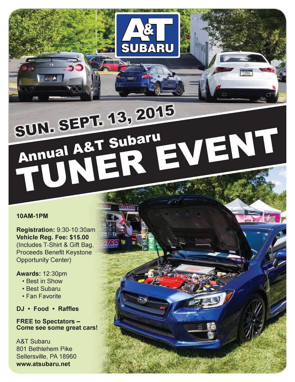 A&T Chevrolet-Subaru ~ At Your Service: August 2015