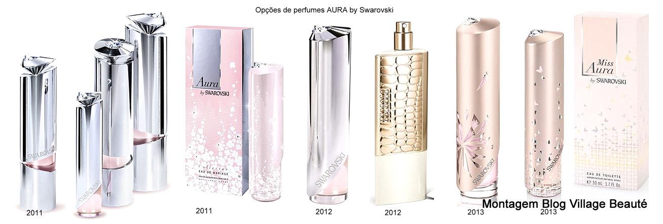 Coleção dos perfumes AURA by Swarovski