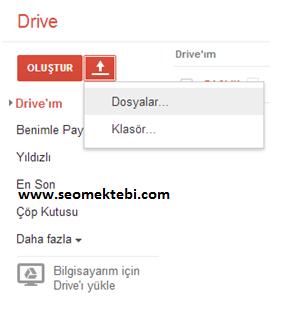 Yeni Google Drive Dosya Nasıl Yüklenir