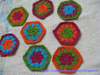 Crochet Swirl hexagon motif by Edie Eckman